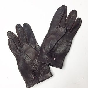 Brown Italian Leather Gloves